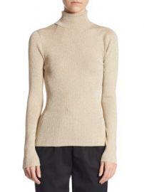 3 1 Phillip Lim - Lurex Rib Turtleneck Sweater at Saks Fifth Avenue