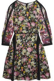 3 1 Phillip Lim   Meadow Flower cold-shoulder printed silk-crepe dress at Net A Porter