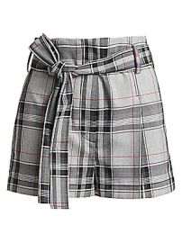 3 1 Phillip Lim - Plaid Belted High-Waist Shorts at Saks Fifth Avenue