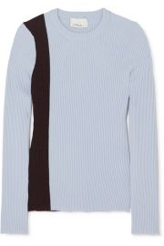 3 1 Phillip Lim - Striped ribbed stretch wool-blend sweater at Net A Porter