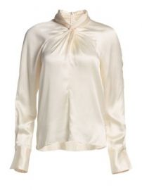 3 1 Phillip Lim - Twisted Silk Blouse at Saks Fifth Avenue