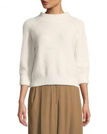 3 1 Phillip Lim 3 4-Sleeve Lofty Rib Alpaca-Blend Pullover Sweater at Neiman Marcus