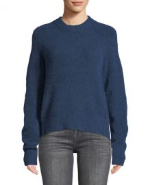 3 1 Phillip Lim Crewneck High-Low Pullover Sweater at Neiman Marcus