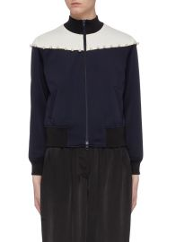 3.1 Phillip Lim Faux pearl colourblock yoke track jacket at Lane Crawford