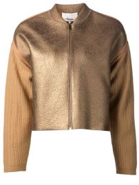 3 1 Phillip Lim Knitted Sleeve Bomber Jacket - at Farfetch