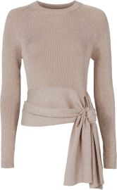 3.1 Phillip Lim Lurex Waist Tie Sweater in Blush at Intermix