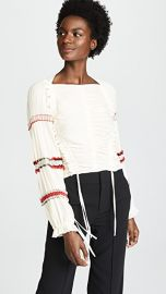 3 1 Phillip Lim Pleated Stripes Top at Shopbop