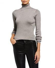 3 1 Phillip Lim Ribbed Metallic Turtleneck Pullover Sweater at Neiman Marcus