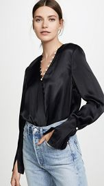 3 1 Phillip Lim Satin Pearl Drape Blouse at Shopbop