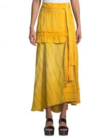 3 1 Phillip Lim Striped Tie-Front Maxi Skirt at Neiman Marcus