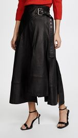 3 1 Phillip Lim Utility Leather Skirt at Shopbop