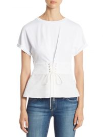 3 1 phillip lim Corset Cotton Jersey Top at Saks Off 5th