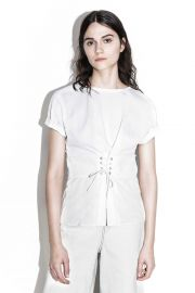3 1 phillip lim Corseted-Waist T-shirt at 3.1 Phillip Lim