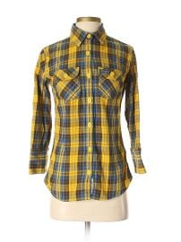 3/4 Sleeve Button Plaid Shirt by SuperDry at ThredUP