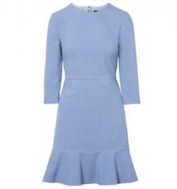 3/4 Sleeve Ruffle Hem Dress by Banana Republic at Banana Republic
