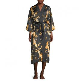 3/4 Sleeve Womens Mid Length Satin Robe at JC Penney