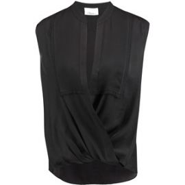 3.1 Phillip Lim Wrap Effect Draped Silk Chiffon Blouse  at The Outnet