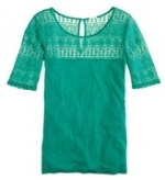Green lace top like Alexs at J. Crew