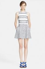 31 Phillip Lim Chevron Detail Full Skirt Dress at Nordstrom