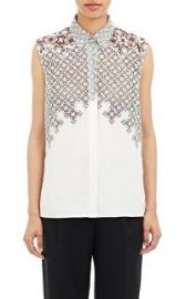 31 Phillip Lim Embroidered Sleeveless Blouse at Barneys