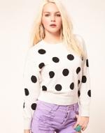 Polka dot sweater like Magnolias at Asos