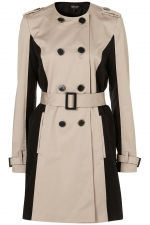 Contrast coat like Zoes at Topshop