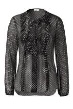 L'AGENCE Black/White Star Print L/S Top at Stylebop