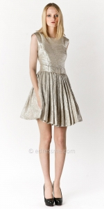 Gold bow dress at Edressme