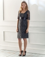 Lily's lace dress at Seraphine
