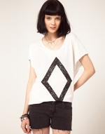 Diamond print shirt like Zoes at Asos