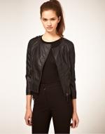 Black collarless jacket like Zoes at Asos