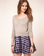 Dress with tie dye skirt at Asos