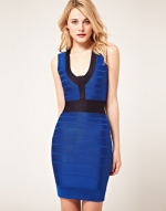 Blue bodycon dress like Serenas at Asos