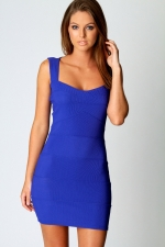 Cobalt blue bodycon dress like Blairs at Boohoo