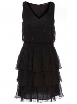 Black beaded short dress at Dorothy Perkins