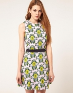 Blue and yellow floral dress like Blairs at Asos