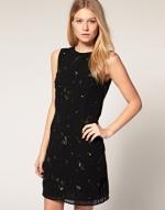 Black embellished dress like Blairs at Asos