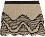 Serena's cream and black beaded skirt at Outnet