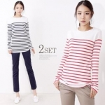 (2 pack) striped tops like Serenas at Yes Style