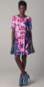 Blair's orchid print dress at Shopbop