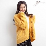 Yellow cable knit cardigan like Lemons at Yes Style