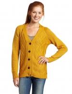 Yellow cable knit cardigan like Lemons at Amazon