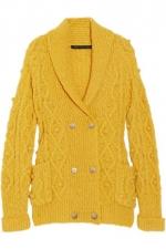 Lemon's yellow knit cardigan at Net A Porter
