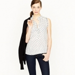 Sleeveless spot blouse like Lemons at J. Crew