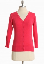Simple pink cardigan at Ruche