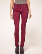Dark red jeans like Pennys at Asos