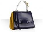 Blair's navy and yellow handbag at Bluefly