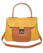 Yellow color block bag like Blairs at Lulus
