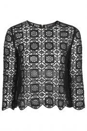 34 Sleeve Crochet Top at Topshop