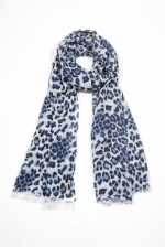 Blue leopard scarf like Serenas at Chictweak